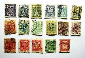 17 sellos de Polonia, legiones polacas en la primera guerra mundial muy raros