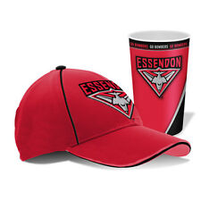 NEW Official Essendon Bombers Cap and Tumbler Pack