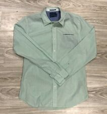 "Scotch & Soda Men's ""Dancing In The Shade"" Burton Down Shirt Green Dotted XL"