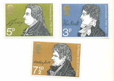 Great Britain-Literature mnh set 1971-Authors-Writers-Poetry