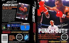 Mike Tyson Punch Out Nes Ersatz Spiel Etui Packung Abdeckung Kunstwerk Art (No