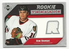 Rene Bourque 2005-06 Upper Deck Rookie Threads Card, # RT-RB, Blackhawks