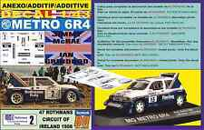ANEXO DECAL 1/43 MG METRO 6R4 ROTHMANS J.MCRAE CIRCUIT OF IRELAND 1986 (06)