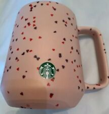 New Starbucks 2020 Valentines Day Pink Hearts Ceramic Coffee Cup Mug Limited Ed.
