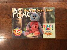 e361c1203b3 New ListingTY Beanie Baby BBOC    CARD Series 1 Common  4053 ~PEACE BEAR  Easter basket