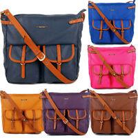 SWANKYSWANS Womens Faux Leather Crossbody Day School Uni Messenger Satchel Bag