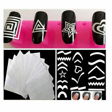 French plastic nail art guides ebay 12pclots nail art guide tips stencils sticker french manicure template vinyls prinsesfo Choice Image
