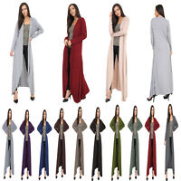 Womens Ladies Long Sleeve Maxi Boyfriend Cardigan Open Floaty Long Cardigan 8-26