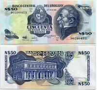 URUGUAY 50 PESOS 1989 TDLR P 61A REPLACEMENT UNC