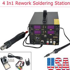 Soldering Station 110V Power Supply Hot Air Iron Gun Rework Welder Welding Tool