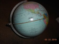 "Hammond 1972 Lighted Scan Globe  A/S 12"" on Plastic Base, AS-IS"