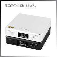 Topping D50s ES9038Q2M*2 Hi-Res DAC Bluetooth5.0 LDAC PCM768KHz DSD512 Decoder