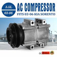 AC Compressor 2003 2004 2005 2006 fit Kia Sorento 3.5L (3497cc) DOHC V6 CNS58190