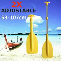 2Pack Split Kayak Paddle Canoe Boat Dinghy Oar Aluminium Inflatable Adjustable