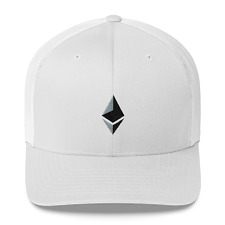 Ethereum Cryptocurrency Retro Trucker Embroidered Snapback Cap Hat Curved Bill