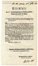 K.u.K. Circular, Verordnung, Oktober 1823, Einfuhr von gemeinen ital. Weinen