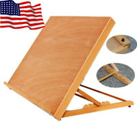 Portable Artist Wood Table Top Desk Painting Easel Drawer Sketch Box Drawing Art