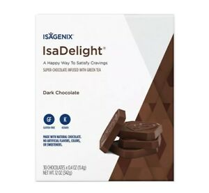 Isagenix IsaDelight Dark Chocolate Indulgent Way to Satisfy Cravings *FreePost