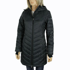Columbia Womens Morning Light II Hooded Long Omni Heat Winter Jacket Black Regular L