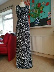 New Long Tall Sally Floral Navy And white Maxi Dress Size 10.