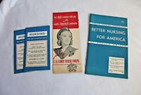 Group of 4 1940s Pamphlets and Booklets on Nursing-US Cadet Nurse Corps