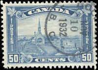 1930 Used Canada 50c VF Scott #176 King George V Arch/Leaf Stamp