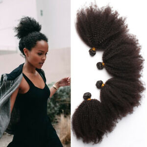 Mongolian 100% Virgin Afro Kinky Curly Hair Weave Brazilian Human Hair Extension