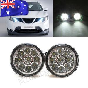 Pair LED Fog Light Lamp For Nissan Qashqai J11 2014-17 Cube  Juke Murano X-trail