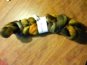 Malabrigo Nube Glitter Roving Hand Dyed 100% Pure Merino Wool, 4 ozs