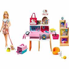 Barbie Pet Boutique Playset With 4 Pets