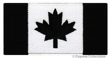 CANADA FLAG EMBROIDERED PATCH MAPLE LEAF CANADIAN BIKER iron-on BLACK VERSION