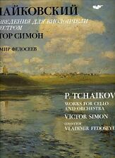 Russian Lp Tchaikovsky Works for Cello - Victor Simon