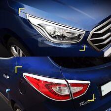 Chrome Head lamp Cover Rear Tail Light Molding for HYUNDAI 2011-2015 Tucson ix35