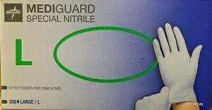MEDIGUARD 200 Large Nitrile Examination Gloves (Latex + Powder Free)