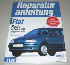 Reparaturanleitung Fiat Punto S SX Selecta HSD EL ELX GT Cabrio ab Herbst 1993!