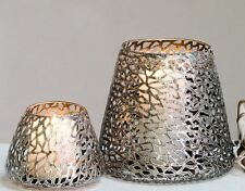 54957 Lantern Purley from Metal · Silver · Antique Wiped Height 20CM