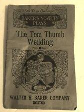 * 1898 * Tom Thumb Wedding Play Booklet by Walter H Baker Company, Boston
