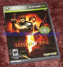 Resident Evil 5 (Xbox 360) ***BRAND NEW & SEALED*** Free Shipping! platinum hits