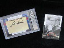 JOHN WOODEN Cert AUTHENTIC Autograph CUT & Card UCLA Bruins BEST WISHES