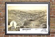 1797 PA MAP Archbald Audubon Bangor Birdsboro Blake Fox Chapel Yorklyn SURNAMES