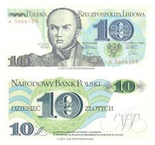 Poland 10 Zlotych 1982 P-148 Scarce First Prefix Banknotes UNC