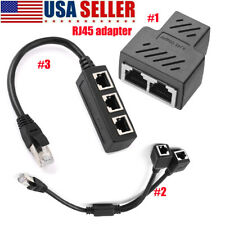 RJ45 Splitter Adapter 1 to 2  1 to 3 Ways CAT 7 6 5 LAN Ethernet Cable Connector