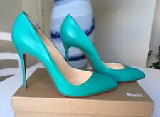 Christian Louboutin Green Teal Corneille 100  39 UK 6