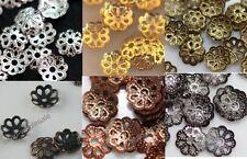 New 500pcs silver/golden/black/copper/bronze color metal flower bead caps