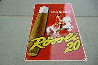Rössli 20  feiner Sumatra  Original altes Blechschild    Zigarren