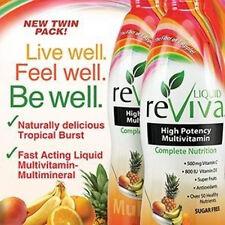 2 x 32 oz Liquid Reviva Multivitamin Tropical Burst