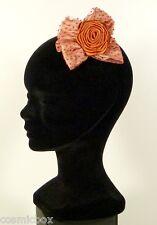 Chapeaux de cérémonie femme BARETTE Le BRUN fleur rouille orange taille unique