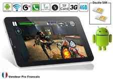 """Tablette PC Téléphone 2 GSM / Double SIM 3G 7"""" Tactile ANDROID WIFI Débloqué 8G"""