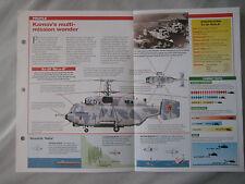 Aircraft of the World Card 38 , Group 3 - Kamov Ka-27/29/32 'Helix'