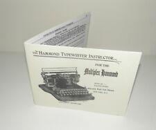 Hammond Multiplex Typewriter Ideal & Universal Instruction Manual Reproduction